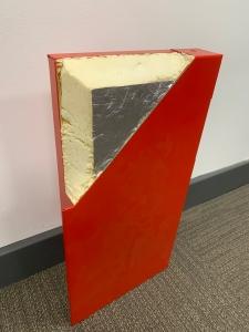 Polyurethane door infill core
