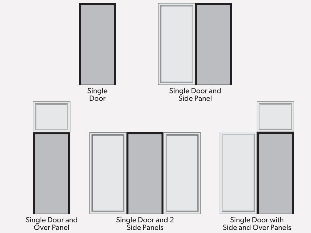 Single door panels